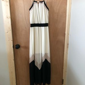 Black and Cream Maxi Dress